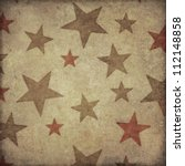 grunge star pattern background... | Shutterstock . vector #112148858