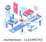 modern isometric smart smart... | Shutterstock .eps vector #1121490743