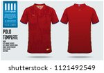 russia team polo t shirt sport... | Shutterstock .eps vector #1121492549