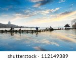 the west lake at afterglow in... | Shutterstock . vector #112149389