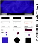 dark blue  red vector web ui...