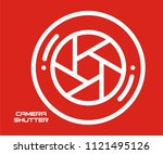 camera shutter vector icon  | Shutterstock .eps vector #1121495126