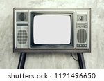 retro old television isolated... | Shutterstock . vector #1121496650