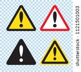 danger sign  warning sign ... | Shutterstock .eps vector #1121501003