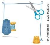 thread  sewing  vector | Shutterstock .eps vector #1121503103
