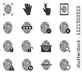 fingerprint icons. black...   Shutterstock .eps vector #1121503523