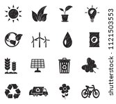 ecology icons. black scribble... | Shutterstock .eps vector #1121503553