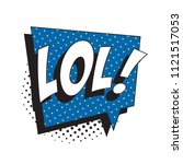 abbreviation lol   laugh out...   Shutterstock .eps vector #1121517053