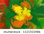 abstract oil painting... | Shutterstock . vector #1121522486