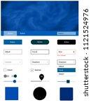 light blue vector wireframe kit ...