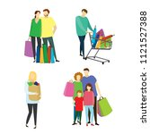 different people buyers with... | Shutterstock .eps vector #1121527388