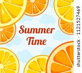 summer time background with... | Shutterstock .eps vector #1121527469