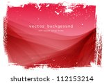 red vector smooth wavy... | Shutterstock .eps vector #112153214