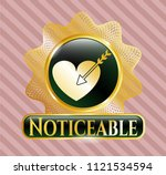 golden emblem with love icon... | Shutterstock .eps vector #1121534594