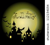 halloween themed design ... | Shutterstock .eps vector #112154054