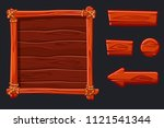 vector set red wood assets ...