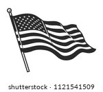 Monochrome American Flag...