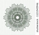 green linear rosette   Shutterstock .eps vector #1121545946