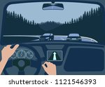 view of the road from the car...   Shutterstock . vector #1121546393