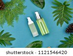 cosmetic bottle containers on... | Shutterstock . vector #1121546420
