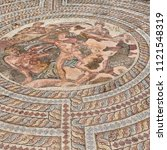 in paphos cyprus the old mosaic ...   Shutterstock . vector #1121548319