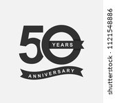 50 years anniversary logo icon... | Shutterstock .eps vector #1121548886