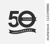 50 years anniversary logo icon... | Shutterstock .eps vector #1121548886