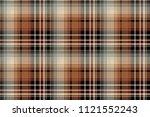 brown pixel check seamless... | Shutterstock . vector #1121552243