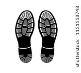 footprints shoes on white... | Shutterstock .eps vector #1121553743
