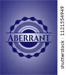 aberrant with denim texture | Shutterstock .eps vector #1121554949