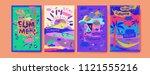 set of summer illustration for...   Shutterstock .eps vector #1121555216