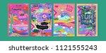 set of summer illustration for... | Shutterstock .eps vector #1121555243