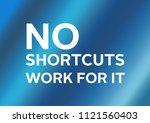 fitness motivation quote | Shutterstock . vector #1121560403