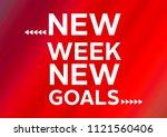 fitness motivation quote | Shutterstock . vector #1121560406
