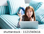 beautiful of portrait young... | Shutterstock . vector #1121560616