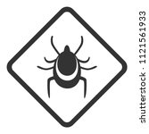 ticks warning sign. rhombus.... | Shutterstock .eps vector #1121561933