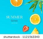 creative layout made of lemon ...   Shutterstock . vector #1121563343