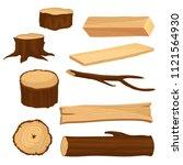 flat vector set of materials... | Shutterstock .eps vector #1121564930