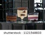 dessert tiramisu in a glass in... | Shutterstock . vector #1121568833