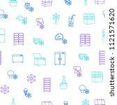 fridge thin line seamless... | Shutterstock .eps vector #1121571620