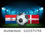 football stadium with the ball... | Shutterstock .eps vector #1121571743