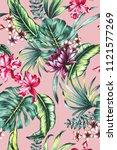 seamless hand painted... | Shutterstock . vector #1121577269
