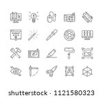 set of graphic tools outline... | Shutterstock .eps vector #1121580323
