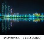 View Abu Dhabi Skyline Night - Fine Art prints