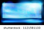 big led projection screen.... | Shutterstock .eps vector #1121581133