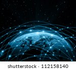 best internet concept of global ... | Shutterstock . vector #112158140