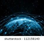 best internet concept of global ... | Shutterstock . vector #112158140