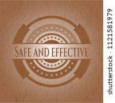 safe and effective wood emblem. ...   Shutterstock .eps vector #1121581979