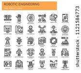 robotic engineering   thin line ... | Shutterstock .eps vector #1121586773