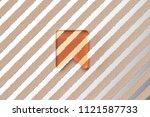orange glass bookmark icon on...